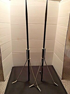 Vintage Original Weathervane Lightning Rods (Matched Pair)