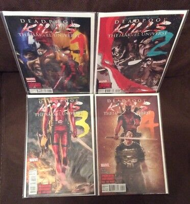 DEADPOOL KILLS THE MARVEL UNIVERSE #1 - 4 Comic Books  Full Set