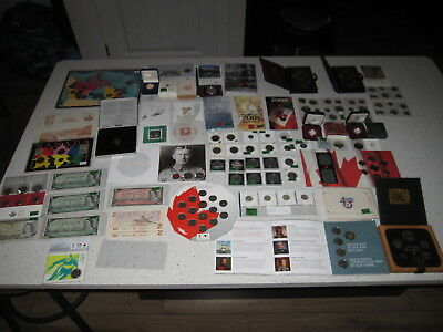 Huge Canada Coin Banknotes Collection Lot - Silver Dollars Sets 99c NO RESERVE!