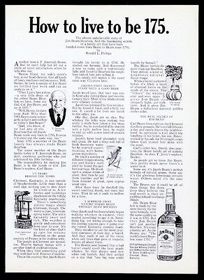 1967 Jim Beam Bourbon Whiskey company history Clermont Kentucky vintage print ad