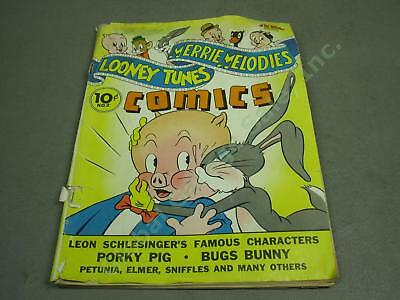 Vtg 1941 Dell L&M Looney Tunes & Merrie Melodies Comics #2 Porky Pig Bugs Bunny