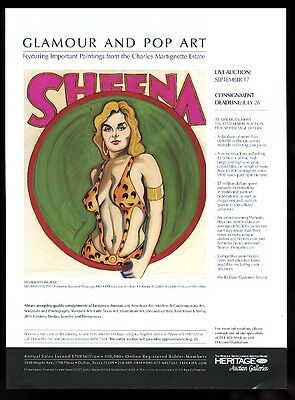 2009 Mel Ramos Sheena Queen of the Jungle 1963 pinup painting print ad