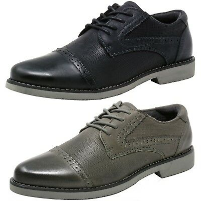 Double Diamond by Alpine Swiss Men's Genuine Leather Cap Toe Oxford Dress Shoes