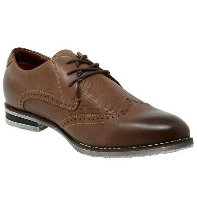 Double Diamond By Alpine Swiss Men's Oxfords Genuine Leather Wingtip Dress Shoes