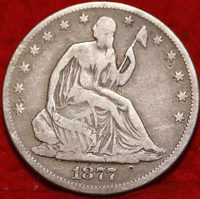1877 Philadelphia Mint Silver Seated Half Dollar Free S/H