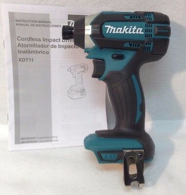 Makita XDT11Z New 18V LXT Cordless Lithium-Ion 1/4 in. Impact Driver - Bare Tool