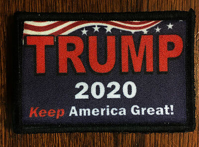 Trump 2020 Morale Patch Tactical Military USA Hook Badge Army Make America Great