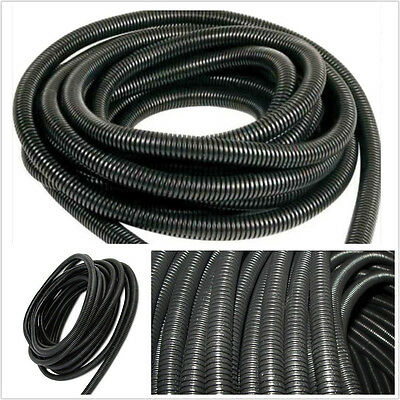 "DIY Black 20m 1/2"" 13mm Split Loom Wire Cable Tubing Conduit Hose For Car Audio"