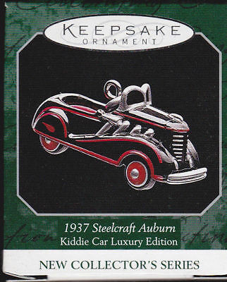 1998 Hallmark Miniature Ornament 1937 Steelcraft Auburn Kiddie Car Luxury Ed