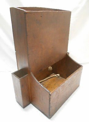 Unusual Antique Sugi Wood Craftmans Backpack Carry Box Japanese C1890s #732
