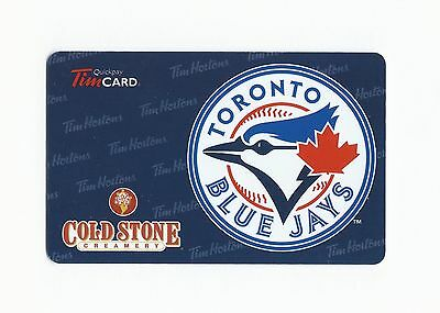 MLB Toronto Blue Jays Tim Hortons Cold Stone Creamery Gift Card $0 FD29299