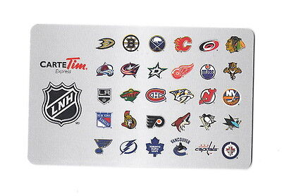 NHL 2013 All Team French Collectible Tim Hortons Gift Card $0 Value FD38789