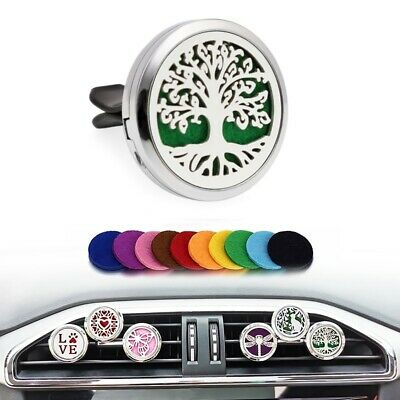 Tree Of Life Car Vent Clip Air Freshener  Aroma Essential Oil Diffuser Locket