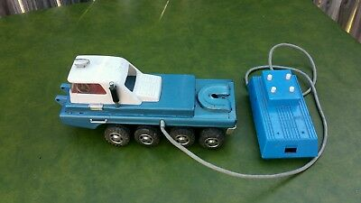 Vintage 1960's Tin Toy 8 Wheeler Truck Remote Control Made In Japan