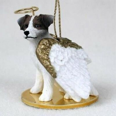 Small Angel JACK RUSSELL BROWN Xmas Angel Tree Ornament