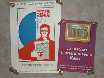2 Plakate - Offset Farbserigraphie - Tapetenmuseum Sowjetrussische - 1974-80