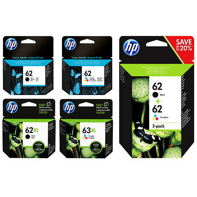 Genuine HP 62 Ink Range for Envy 5540 5640 5644 7640 Officejet 5740 5742 5744