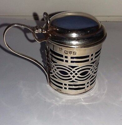 Antique Silver Mustard Pot - Chester 1912