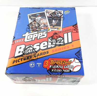 1993 Topps Baseball Series 1 Rack Box BBCE Wrapped FASC From A Sealed Case