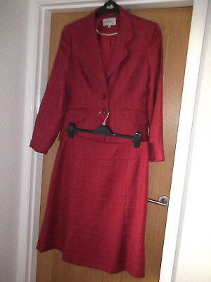 Lovely Ladies Claret Next Two Piece Suit. Size 14-Skirt 14R. Good Condition.