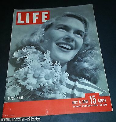 July 8, 1946 LIFE Magazine Old graphics adds ads 40s '46 ad add FREE SHIPPING 7