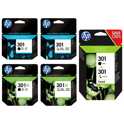 Genuine HP 301 / 301XL Black and Colour Inks for Deskjet 1510 2450