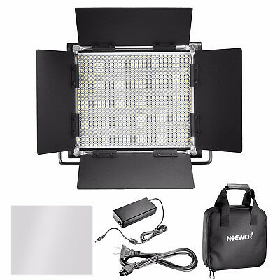 Neewer 2 Packs Professional Metal Bi-color Dimmable 660 LED Video Light DC 12V