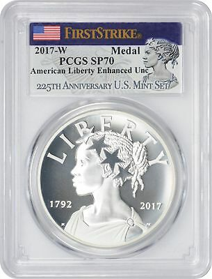 2017-W 225th Anniversary Silver Medal SP70 PGCS First Strike American Liberty