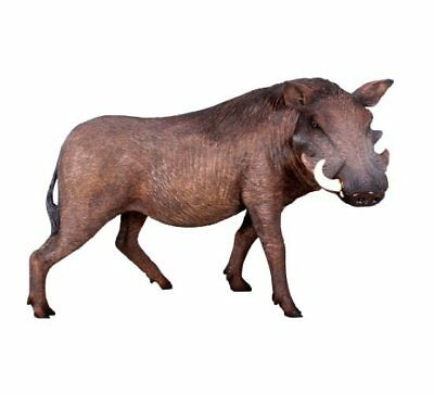 African Warthog Statue Wild Pig Theme Decor Animal Prop Life Size