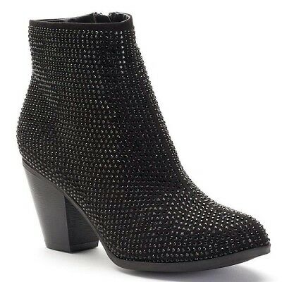 NEW Womens JUICY COUTURE AVORA black Gem Fashion Dress Casual Shoes Bootie