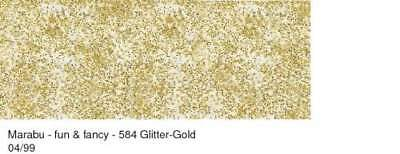 "Marabu Window Color ""fun & fancy"" 80 ml glitter-Gold Fenster Farbe Glasmalfarbe"