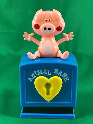 Animal Bank Plastic Piggy Pig Bank