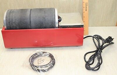Lapidary Tools Dual Drum Rotary Rock Tumbler Polisher With 2 Drums 5 Extra Belts