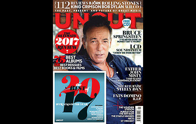 Uncut Magazine + Cd January 2018 (Bruce Springsteen, Steely Dan) New