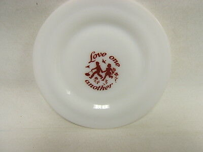"Hazel Atlas Vintage ""Love One Another"" Child's Plate 7"" diameter VGC"