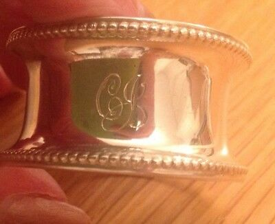 Solid Silver Napkin Ring 1922