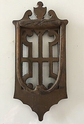Vintage Imperial Brand Cast Brass Entry Door Knocker Unique Openwork