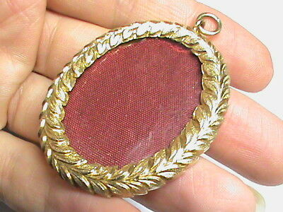 Antique Victorian 1864 Sterling Silver gilt Locket Pendant for miniature