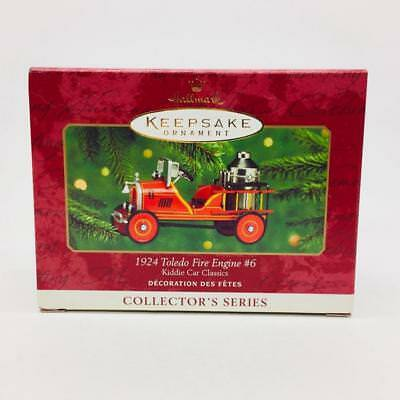 Hallmark Keepsake 1924 Toledo Fire Engine #6 Kiddie Car Classics 2000 New In Box