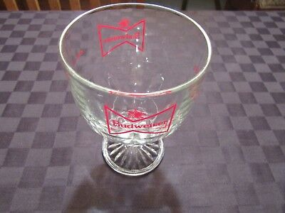 Budweiser Fluted Chalice Goblet Glass