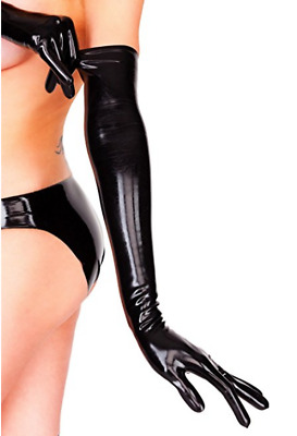 LATEXA Black Latex OPERA Gloves Unisex / Made in Germany / SMALL Fetish Cosplay