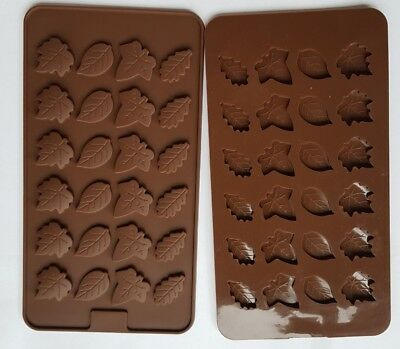 LEAF leaves 24 Shapes Silicone Mould: Soap Chocolates Ice tray Mold