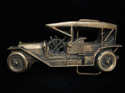 Ni01160 Vintage 1978 Cut-Out **antique Automobile** Car Solid Brass Baron Buckle