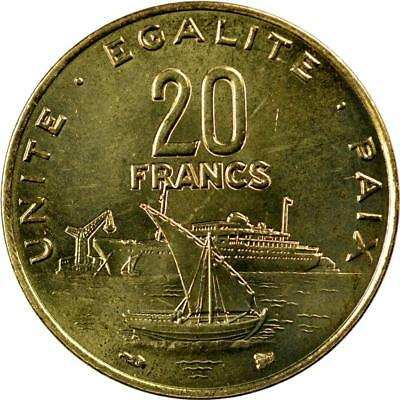 Djibouti - 20 Francs - 1999 - Boats On Water - Unc
