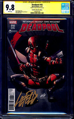Deadpool #18 CELEBRITY AUTHENTICS VARIANT CGC SS 9.8 signed Rob Liefeld LOGO SIG