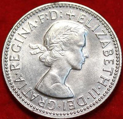 Uncirculated 1956 Australia Shilling Silver Foreign Coin Free S/H