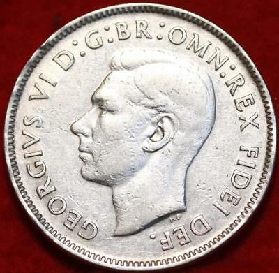 1952 Australia Florin Silver Foreign Coin Free S/H
