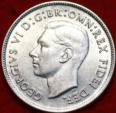 Uncirculated 1951 Australia Florin Silver Foreign Coin Free S/H