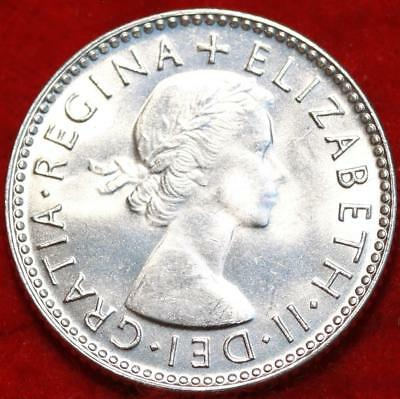 Uncirculated 1954 Australia 6 Pence Silver Foreign Coin Free S/H