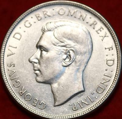 1938 Australia Silver Crown Foreign Coin Free S/H